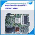 Laptop motherboard para asus k52jv k52jr rev: 2.0 notebook gt 540 m com 1 gb ddr3 vram 100% trabalhando mainboard