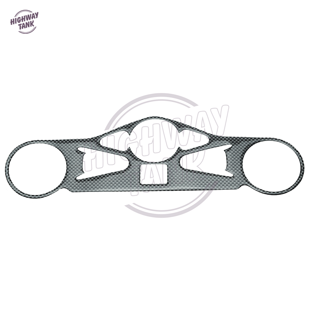 Motorcycle Sticker Carbon Fiber Pattern Top Triple Clamp