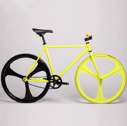 3 Spoke Wheel 700c Wheel Tri Spoke Fixed Gear Single Speed Track Bike 90mm Rims