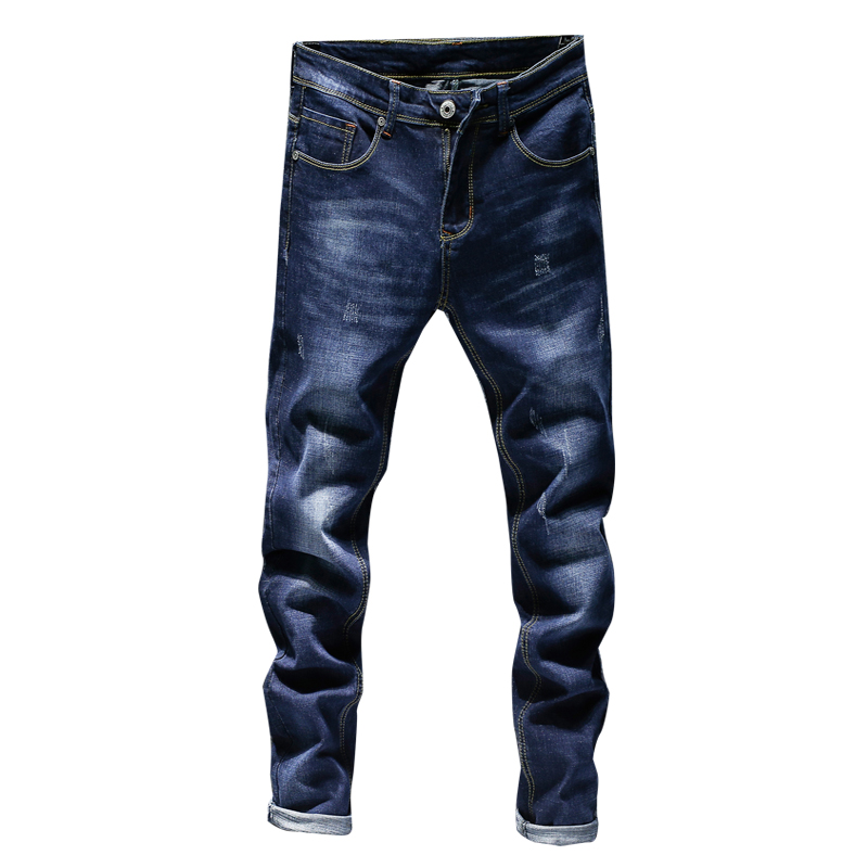 KSTUN Mens Black Jeans Blue Jeans Spring and Autumn Business Casual Slim Fit Elasticity Denim Pants Classic Style man jean homme 10