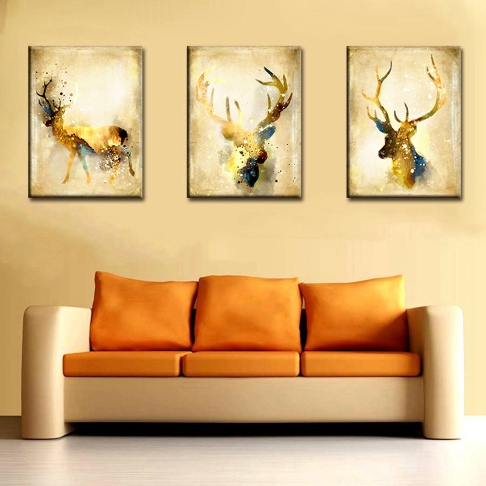 Brown Deer Wall Art Canvas Painting for Living Room Wall Decor ...
