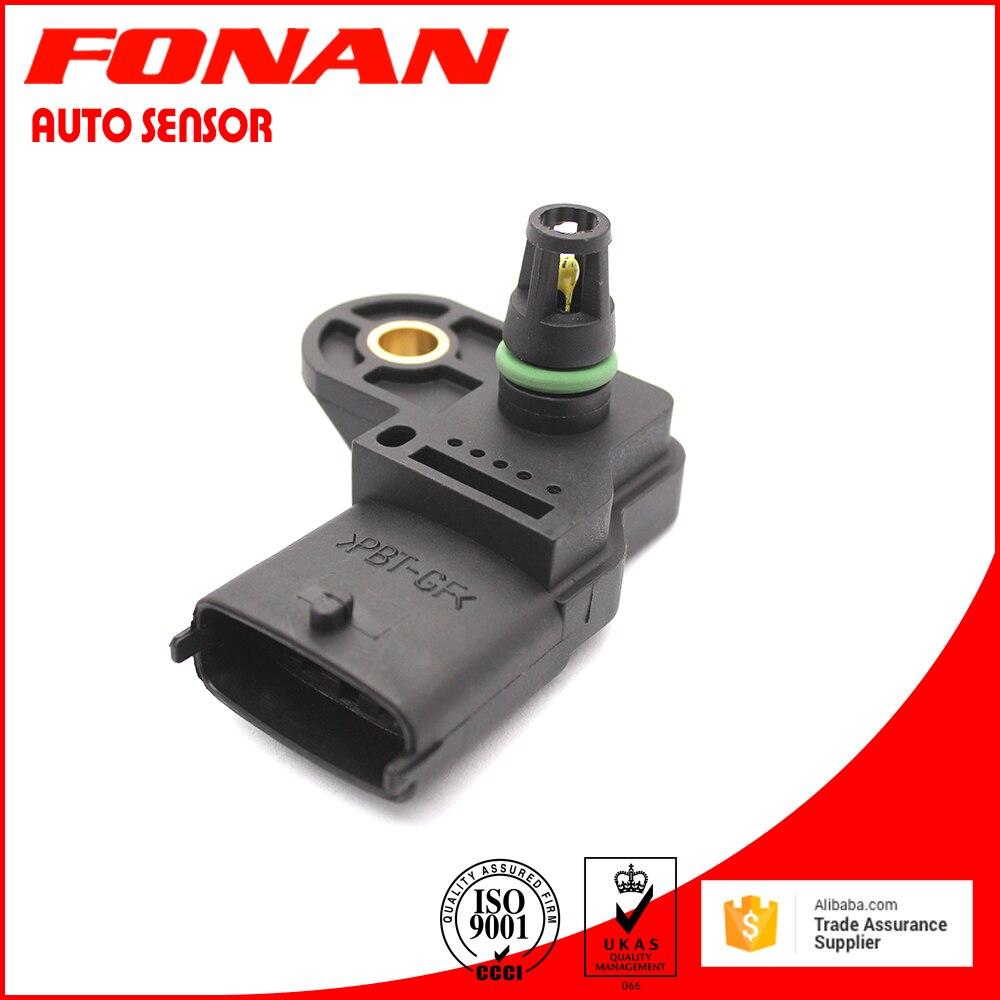 0281002709 8200375080 New MAP Turbo Boost Manifold Absolute Pressure Sensor For Renault Megane II Scenic II Laguna II 1.9 dCi
