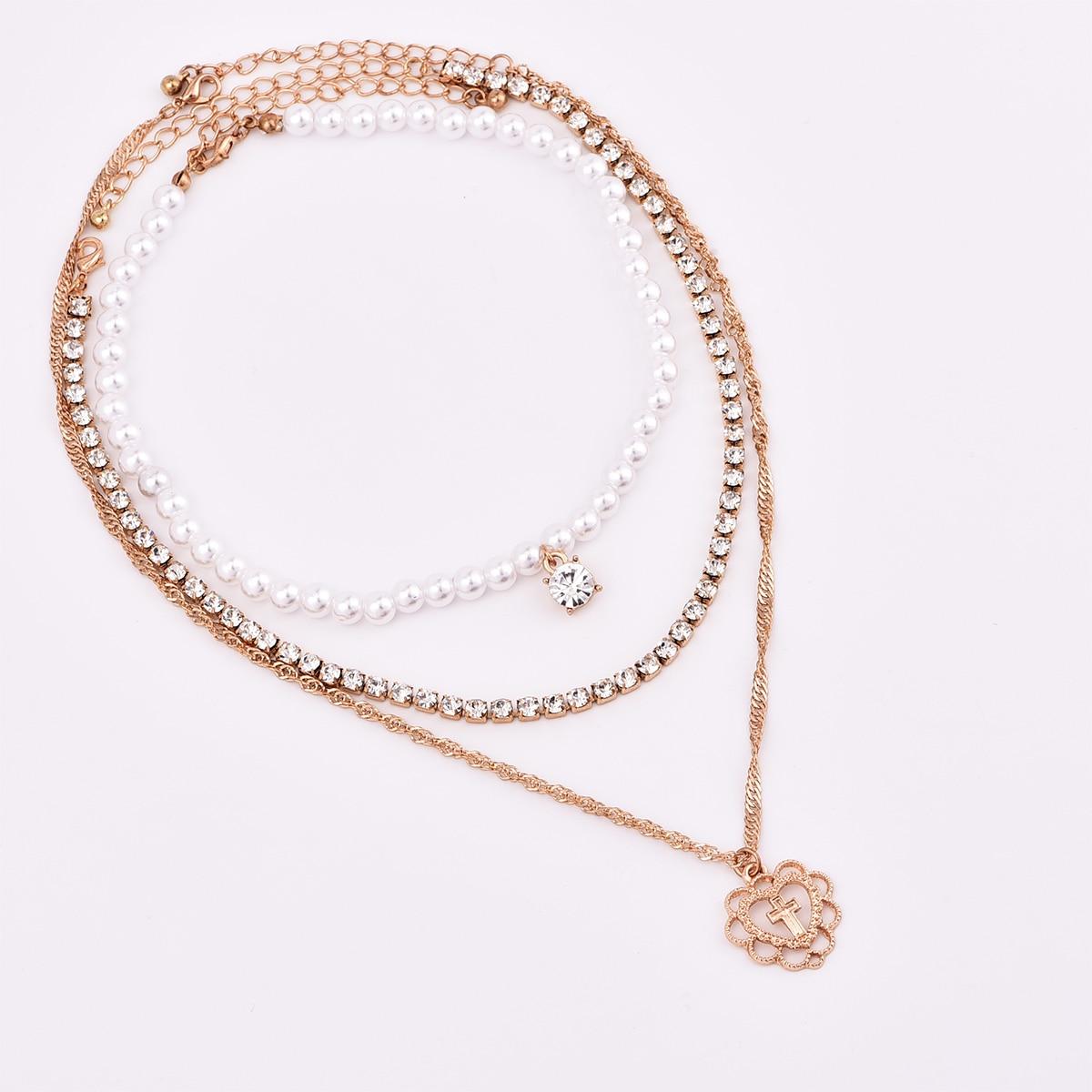 Новые модные Многослойные жемчужное колье, колье для женщин и девочек jewelry подарки N0040