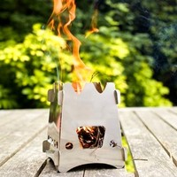 Outdoor Wood Stove Portable Stainless Steel Light Weight Camping Stove For Outdoor Cooking Picnic Wood Burning