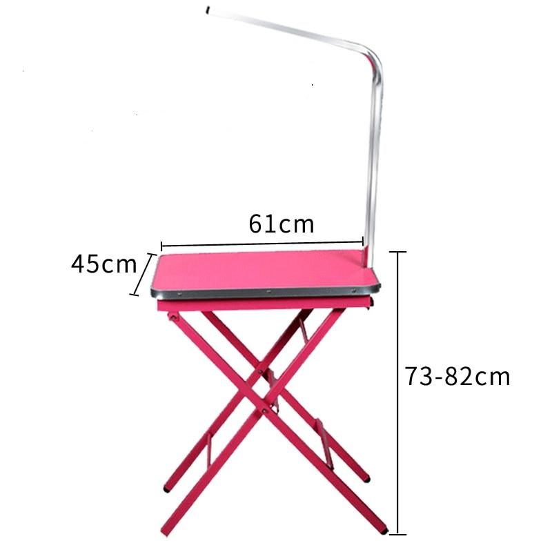 Дешевый складной стол для ухода за домашними животными из нержавеющей стали для маленьких питомцев, портативный Рабочий стол, резиновая поверхность, стол для ванной, голубой, розовый - 6