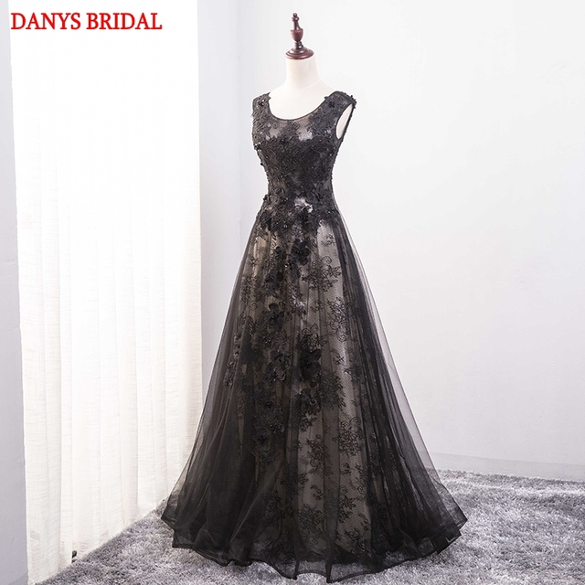 fb659524c8b Black Lace Mother of the Bride Dresses for Weddings Elegant A Line Beaded  Formal Godmother Groom Long Dresses Gowns