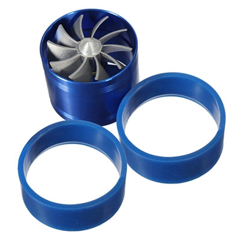 Nouveau Style Bleu Universel De Voiture Gaz Fuel Saver Supercharger Pour Turbine Turbo Chargeur D'admission D'air Ventilateur Turbocompresseur