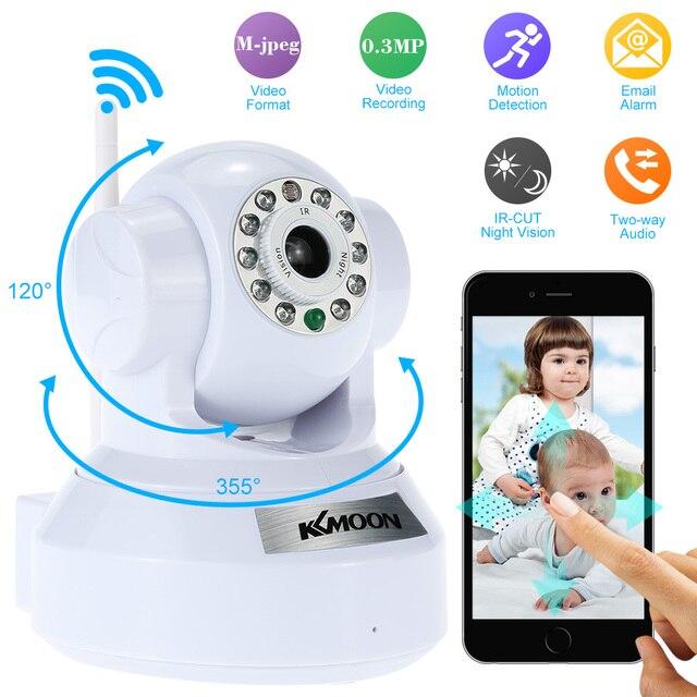 KKmoon Onvif Wireless IP Camera Mini Home P2P Wifi Camara PnP Pan Tilt IR Cut Night Vision Network IP Webcam Surveillance Camera