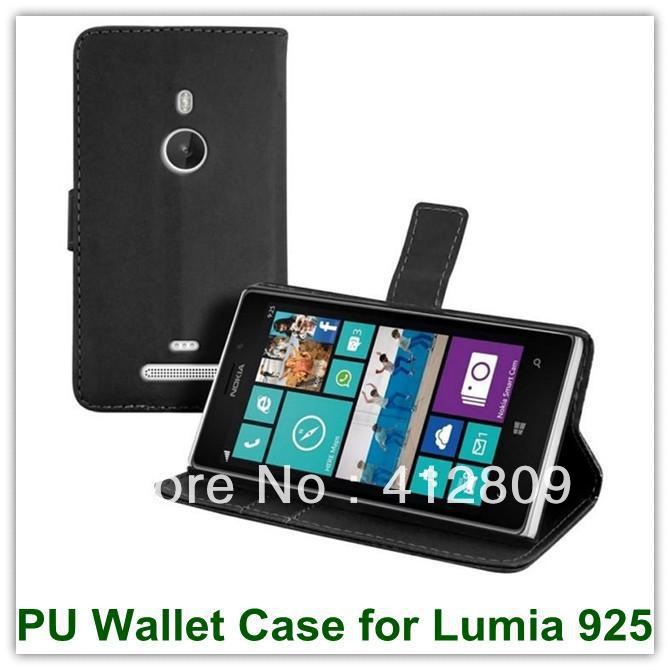 f7205b1c4060 1PCS New Arrival Card Slot Stand PU Wallet Covers Case for Nokia Lumia 925  with ID Card Holder Free Shipping