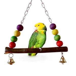 Жевательная игрушка для птиц, попугаев, клетка, подвесная игрушка