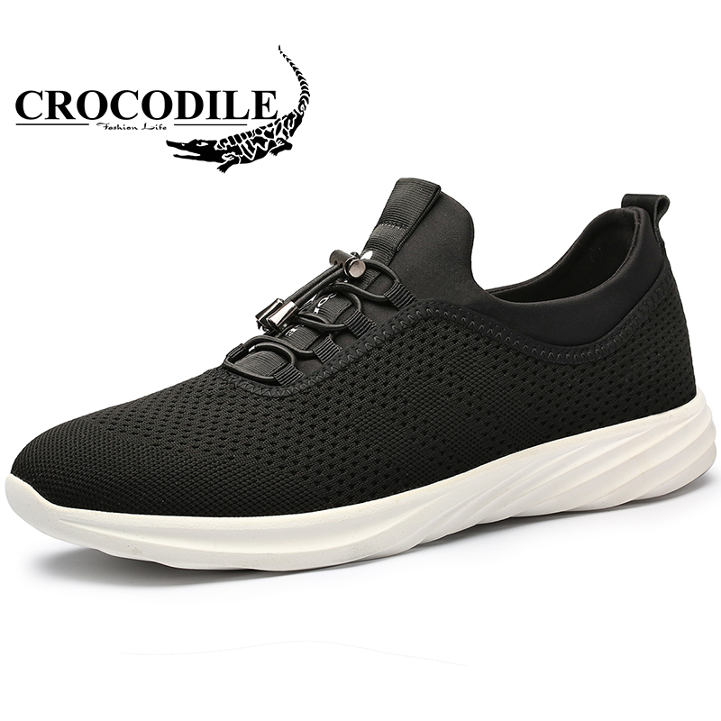 Crocodile 2018 Summer Sport Shoes for Men's Outdoor Running Shoes Male Flat Heel Mesh Ventilation Breathable Athletic Sneakers msstor retro women men running shoes man brand summer breathable mesh sport shoes for woman outdoor athletic womens sneakers 46