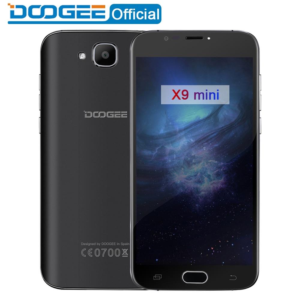 DOOGEE X9 mini Fingerprint mobile phones 5 0Inch HD 1GB 8GB Android 6 0 Dual SIM