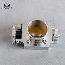 60 MM UNIERSAL 60 MM VQ35TPS de aluminio colector de admisión de cuerpo de acelerador BILLET de plata