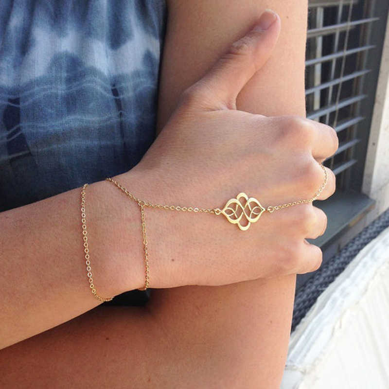Dainty hand chain bracelet Jewelry Bracelets slave bracelet ring dainty thin chain sterling bracelet Sterling Silver finger bracelet