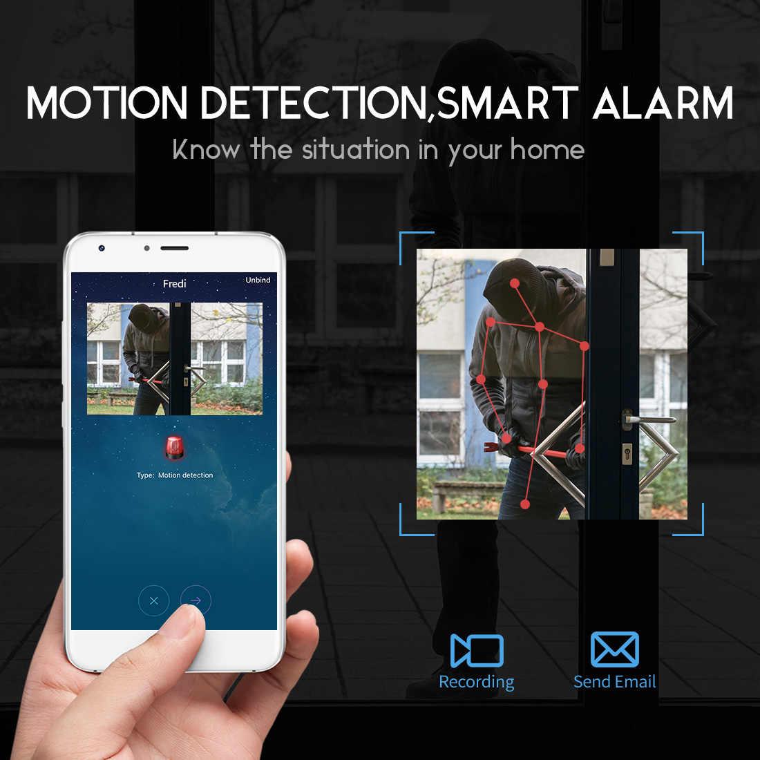 FREDI IP Camera 2 0MP 1080P HD Wireless Mini WIFI Camera P2P Infrared Night  Vision Security Camera Mini Surveillance CCTV Camera
