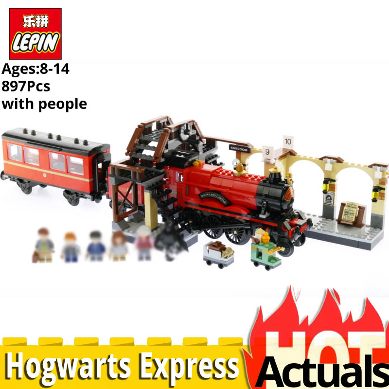 Lepin 16055 Harry Movie Potter Hogwarts Express Model Legoinglys Train 75955 stacking block set building Toys for Children Gift