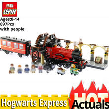 Lepin 16055 Harry Movie Potter Hogwarts Express Model Legoinglys Train 75955 stacking block set building Toys for Children Gift(China)