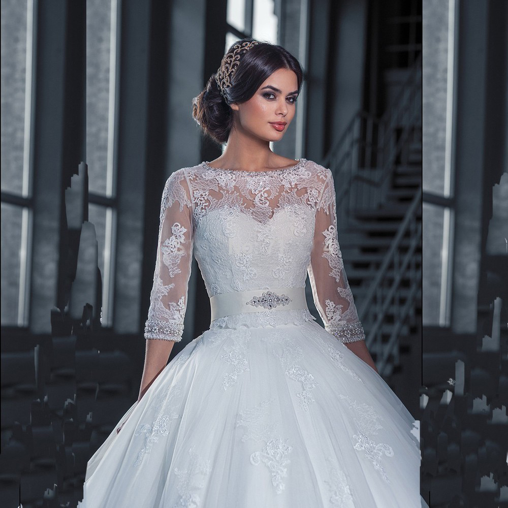 lace romantic vintage wedding dresses with sleeves   Dress images