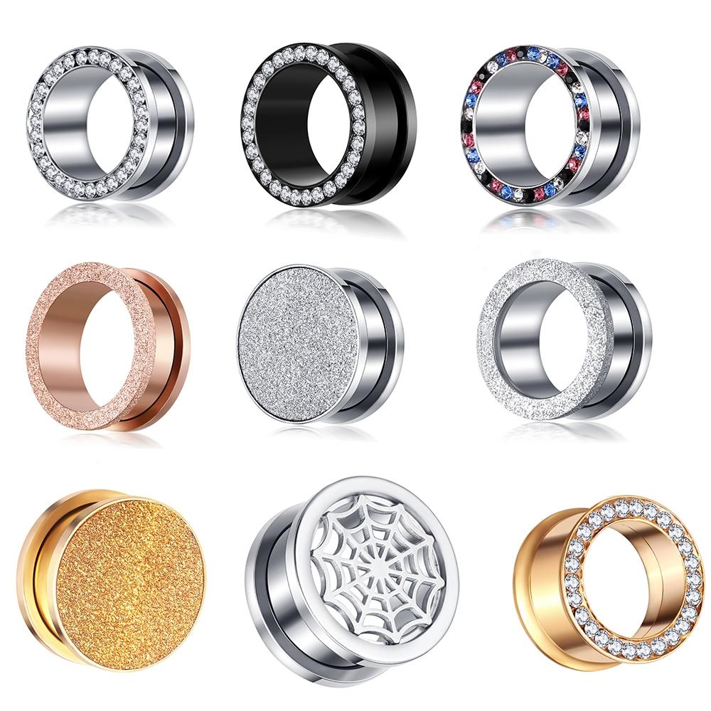 JUNLOWPY Screw Plugs Gauges-Kits Stretchers-Taper-Kit Tunnels 00g Earrings 5-20mm Piercings-Body
