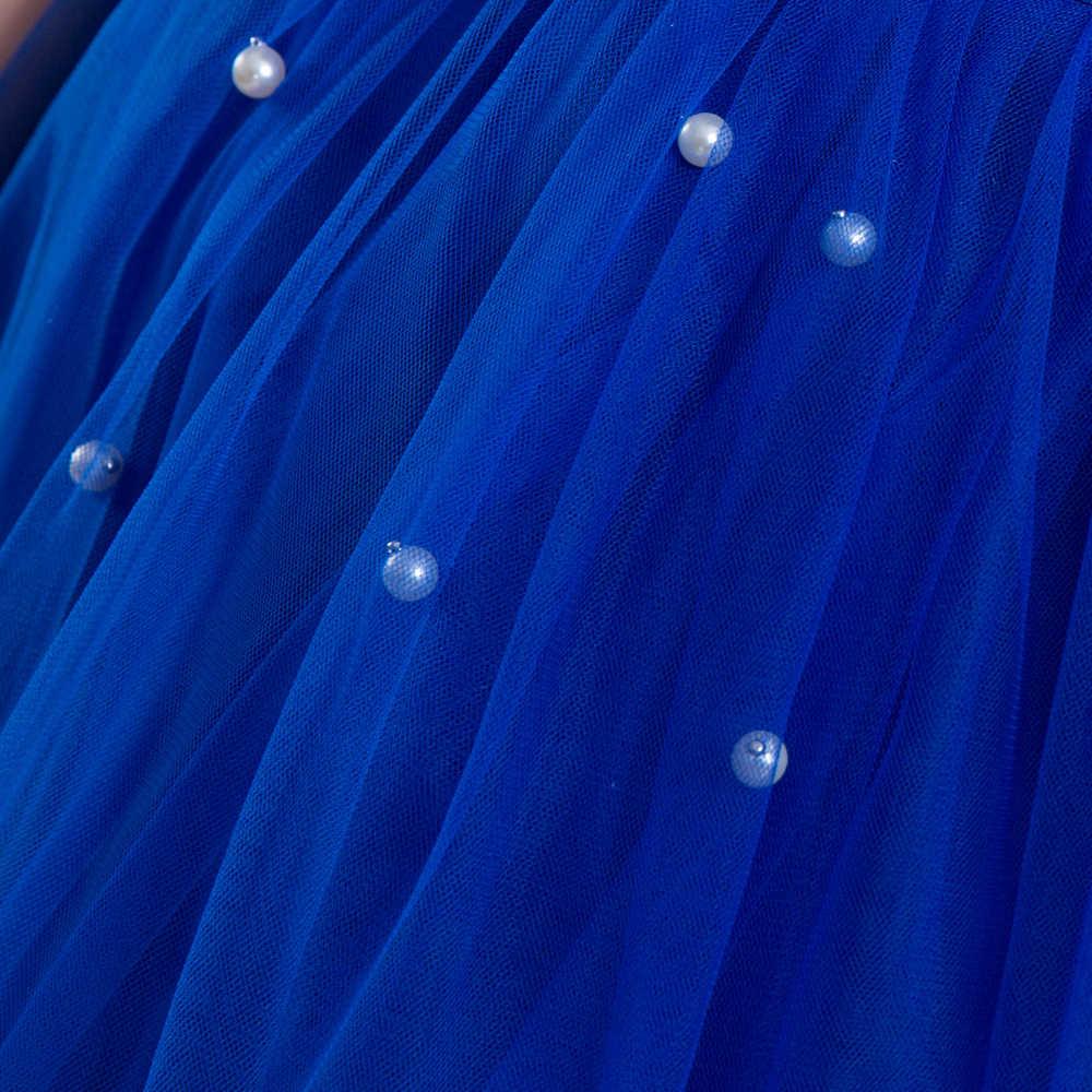 سندريلا الأميرة الفتيات اللباس حكايات ديلوكس تأثيري زي أكمام الأزرق ثوب الاطفال حزب هالوين ملابس عيد