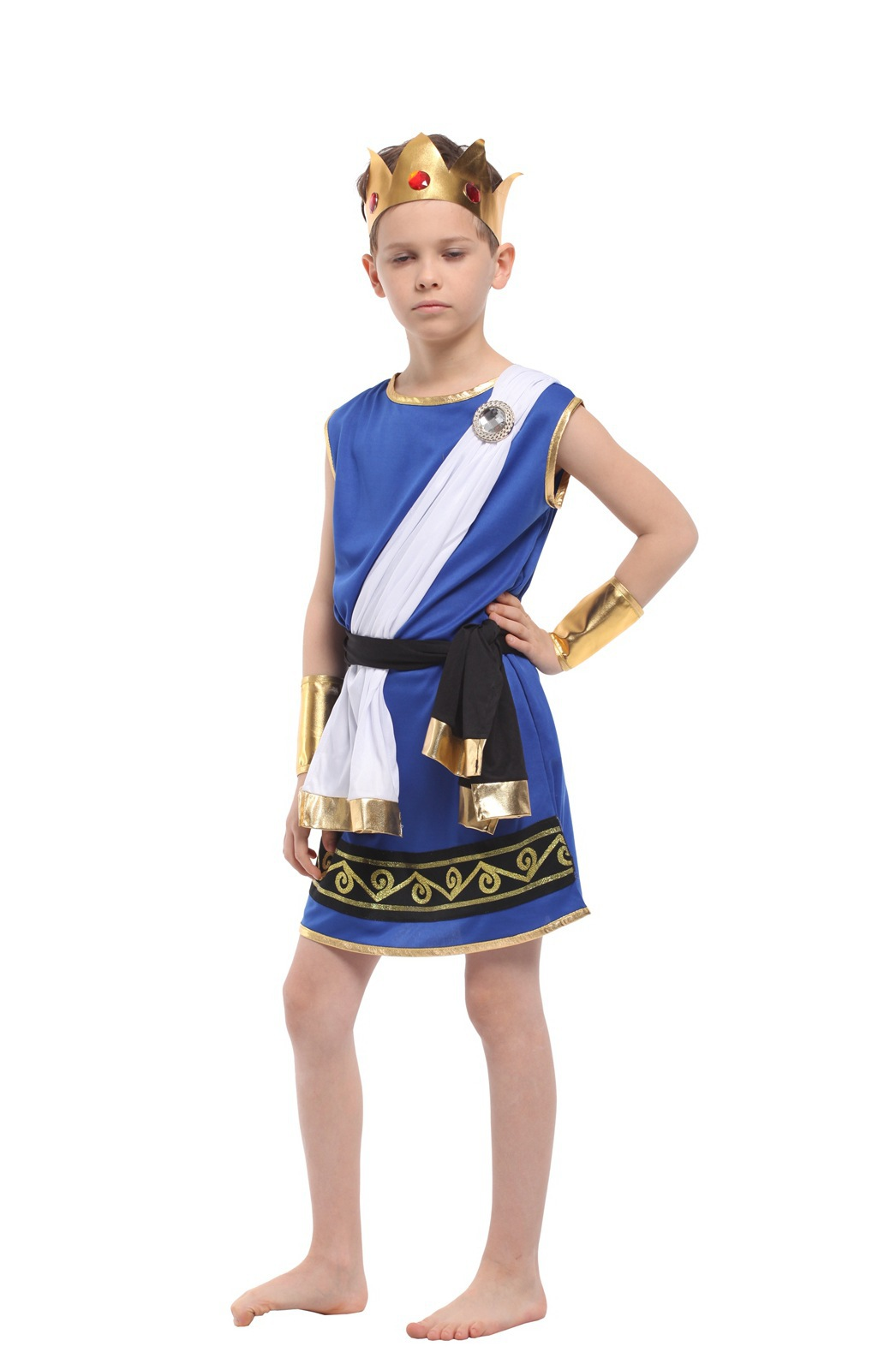 Children's Halloween Costume Boys Egyptian Pharaoh Costume Children's Photographic Costume Zeus Cosplay Costume