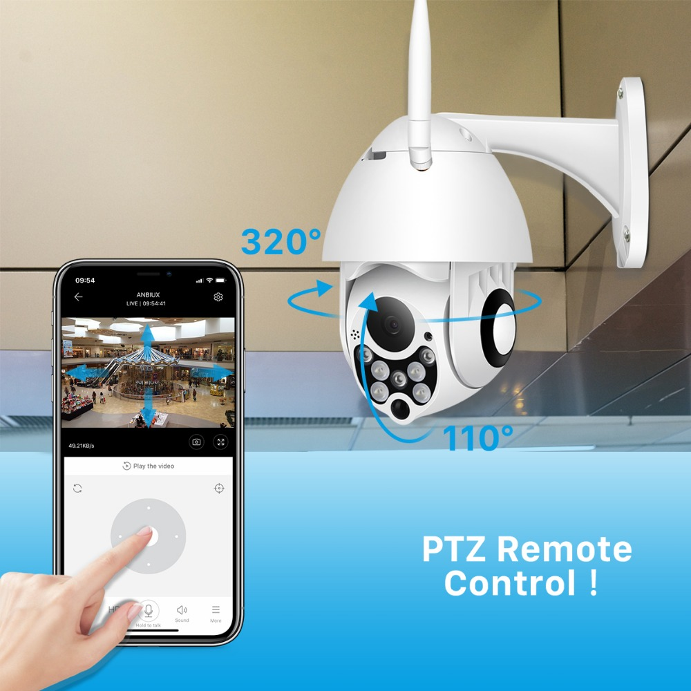 HTB1NA3mX5 1gK0jSZFqq6ApaXXad 1080P PTZ IP Camera Wifi Outdoor Speed Dome Wireless Wifi Security Camera Pan Tilt 4X Digital Zoom 2MP Network CCTV Surveillance