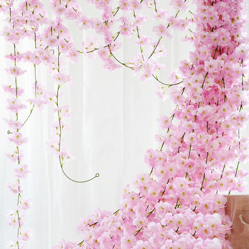 Festive & Party Supplies Nice 1pcs Simulation Artificial Cherry Silk Blossom Home Bedroom Garden Decor Table Top Artificial Flowers Party Supplies