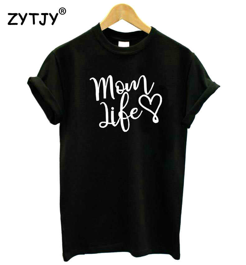 e6b4dcc371 mom life heart Letters print Women tshirt Cotton Casual Funny t shirt For  Lady Girl Top