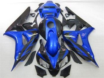 Injection mold fairing kit for Honda CBR1000RR 2006 2007 blue black fairings set CBR 1000RR 06 07 OT08