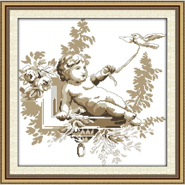 Маленький ангел вышивка крестом