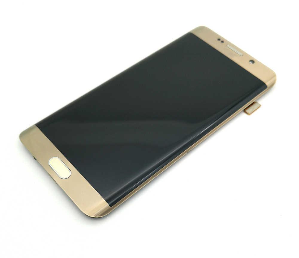 Супер AMOLED ЖК-дисплей для samsung Galaxy S6 Edge Plus G928 G928F ЖК-дисплей кодирующий преобразователь сенсорного экрана в сборе