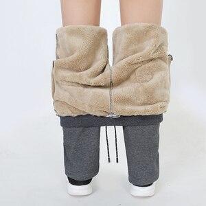 Image 3 - Mens Winter Plus Cashmere Velvet Thicken Pants Men Warm Trousers Mens Sweatpants Brand Clothing Male Elastic Waist Trousers 666