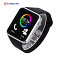 A1 smartwatch bluetooth smart watch com câmera pedômetro toque relógios montre conector para android ios pk gt08 rastreador sono