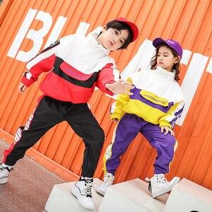 Image 2 - ילדים ספורט אימונית בני בנות 10 12 14 שנים היפ הופ תחפושות ילדים ג אז רחוב Dancewear בגדי ריקוד שלב הצג