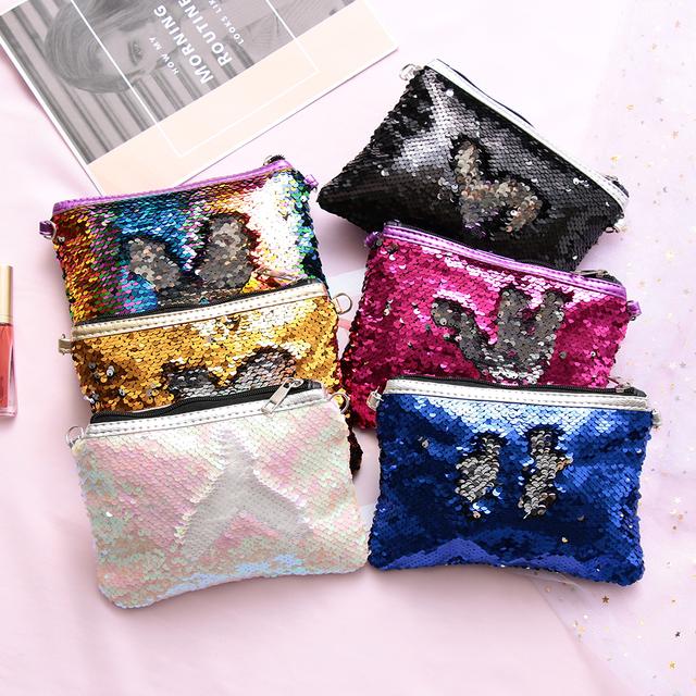 Fashion Women Sweet Messenger Bag Glitter Sequins Crossbody Shoulder Bag Small Envelopes Bags Party Clutch Handbags Kids' Gifts