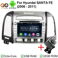 7 Inch Octa Core Android 6.0 Car Radio Stereo for Hyundai SANTA FE 2006-2012 DVD+GPS Navi+Bluetooth+WiFi+Mirror Link