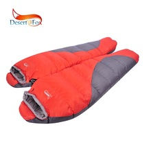 Desert&Fox 1pc Winter Mummy Sleeping Bag 220 x (50-80) cm 1.7kg Spliced Cold Weather for Outdoor Camping Travelling