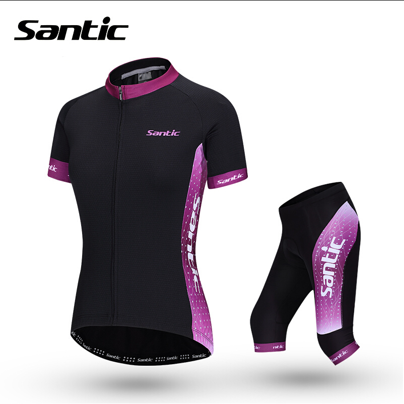 Santic Women Cycling Jersey Breathable Bike Bicycle Sportswear MTB Mountain Road Downhill Sport Clothing Jerseys Camisa Ciclismo купить