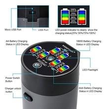 6 Slot Battery Charger Automatic LED Display for Ni-MH Ni-Cd AA AAA 18650 SKD88