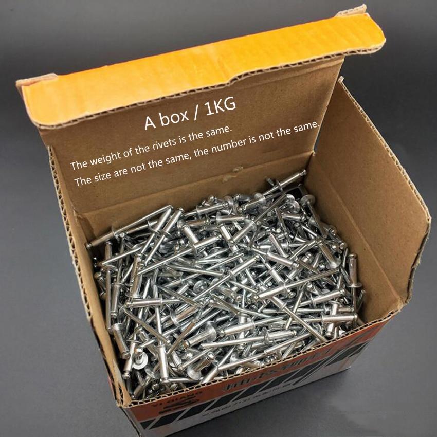 Hot selling 1KG/box M3.2/M4/M5 Aluminum Blind Rivet Round Head Rivets Nail Decoration Pop Rivets стоимость