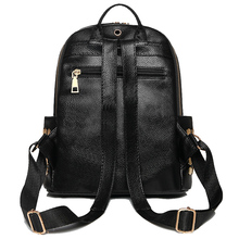 Luxury Famous Brand Designer Women PU Leather Backpack Female Casual Shoulders Bag Teenager School Bag Fashion Women's Bags