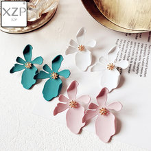 XZP Korean Style Stud Floral Earrings Holiday Flower Earring Boho Women Statement Brincos Cute Petal Jewelry For Girls(China)