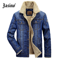 Jasino Brand Casual Men Retro Denim Jackets Coat Blue Autumn Winter Regular Fit Jeans Jackets Wind
