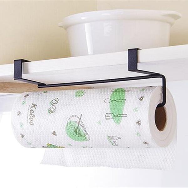 Paper Holders 2019 Tissue Holder Hanging Bathroom Toilet Roll Paper Holder Rack Kitchen Cabinet Door Hook Holder White 23.5*12*7cm Home Improvement
