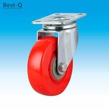 Free shipping 4-inch universal wheels, double bearings, heavy wheels, silent, wear-resistant, pulley