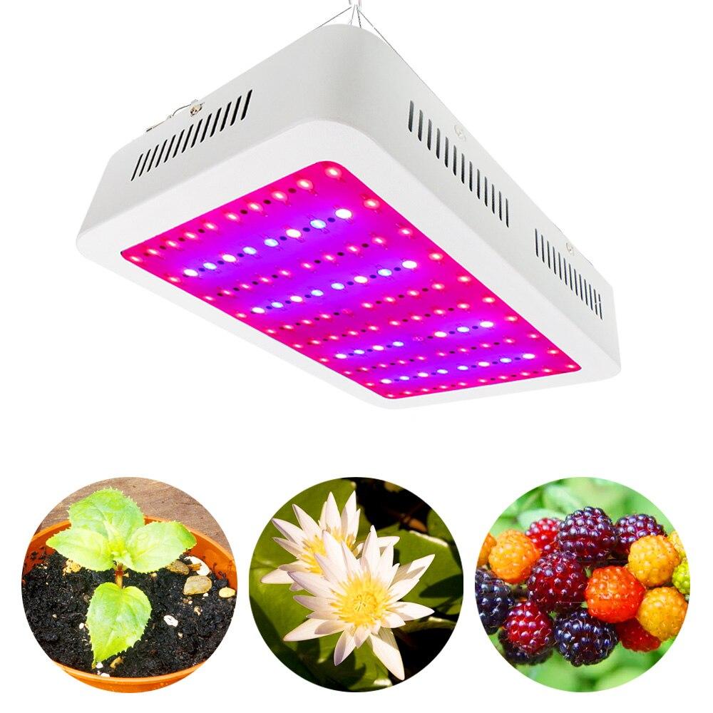 1000 w Lampe Croissante AC85 265 v Plein Spectre Double Puces LED Élèvent La Lumière Pour Plantes D'intérieur Croissance Saine Floraison