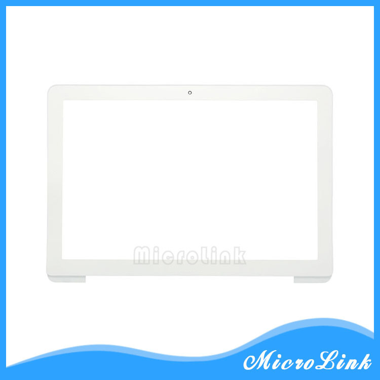 "GENUINE ORIGINAL APPLE MACBOOK WHITE 13/"" A1342 UNIBODY SCREEN BEZEL 2009 2010"