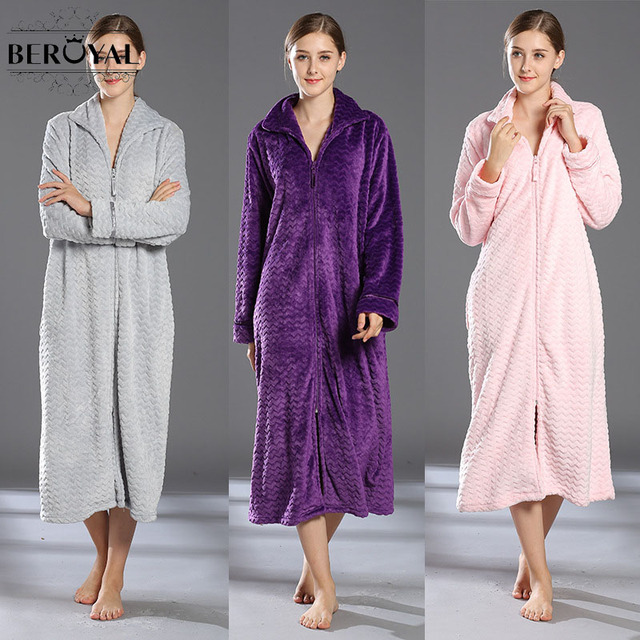 Beroyal Flannel Bath Robe 1pc Polyester Fiber Men And Women Pair Of Pair Of  Sleeping Robe 40a7d4885