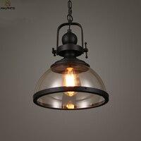 American Retro LED Pendant Lights Restaurant Kitchen Fixtures Pendant Lamp Cafe Pub Hanging Industrial Decor Glass Luminaire