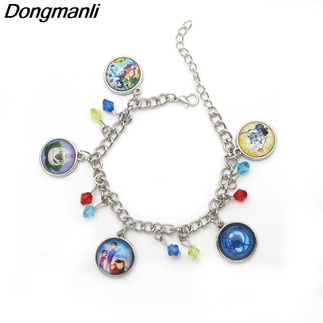P1272 Dongmanli New Trollhunters Bracelet Metal Alloy Round Women 2018 Pendant Jewelry Charms